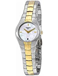 Tissot T0960092211100 T-Round Ladies Watch - White Mother Of Pearl Dial