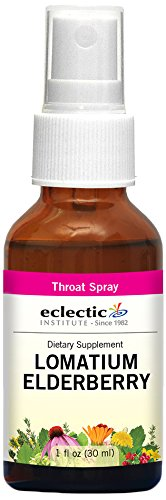 Eclectic Lomatium Elderberry Spray, Red, 1 Fluid Ounce