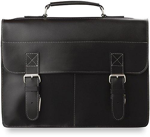Herren - Ledertasche Schultertasche praktische stilvolle Markentasche Mappe schwarz