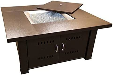 Phat Tommy Fire Pit with Lid in Hammered Bronze Finish for Backyard, Garden and Patio Deck