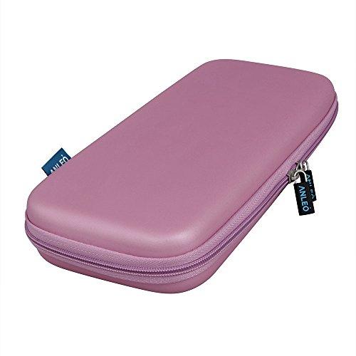 Anleo Hard EVA Travel Case for Nintendo Switch Color: PU Pink