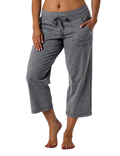 Danskin Now Women's Regular and Plus size Capri LightGrey XL (Danskin Now Womens Performance Capris With Mesh Detail)
