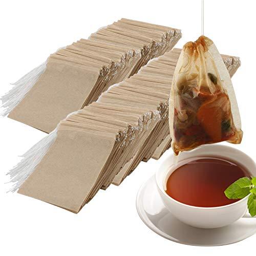 NEPAK 600PCS Bolsita de te de Filtro Bolsas de Papel papel bolsas de te vacio Bolsa de te de filtro de papel Desechable(6 8cm)