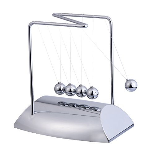 Newton's Cradle Newtons cradle Newton Pendulum Balance Balls Pendulum Balls Office Desk Decor 45s with Delicate ABS Base