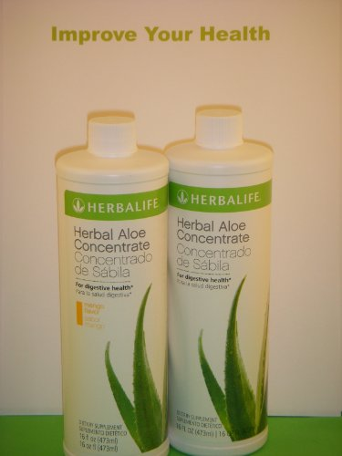 HERBALIFE Herbal Aloe Concentrate (Two One Pint Bottles) MAKES TWO FULL GALLONS. Your Choice of Flavors by Aloe 99