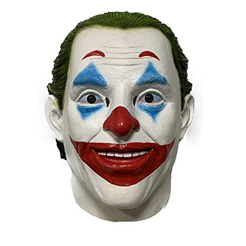 Halloween Clown Mask Costume Party Accessory Latex Green Hair Mask Unisex Adult -