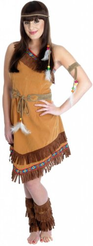[Large Ladies Indian Squaw Costume] (Pocahontas Costumes For Adults)