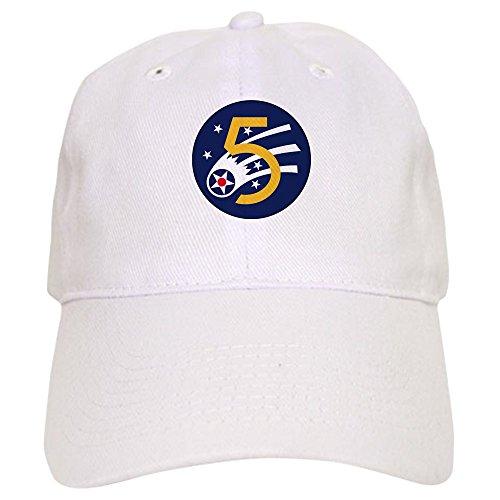 Insignia Force Air Cap (CafePress - 5th Air Force Insignia (WWII) Baseball Cap - Baseball Cap with Adjustable Closure, Unique Printed Baseball Hat)