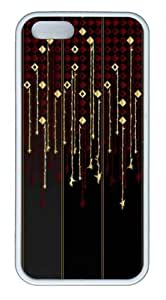 Glamorous Downpour11 TPU Silicone Case Cover for iPhone 5/5S White by mcsharks