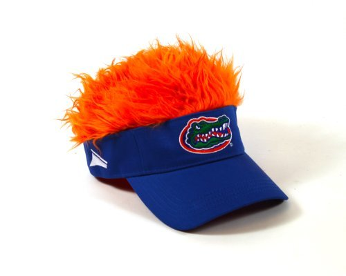 NCAA Florida Gators Blue Flair Hair Adjustable Visor With Orange Hair ()