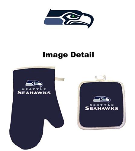 (Pro Specialties Group NFL Seattle Seahawks Oven Mitt and Pot Holder)