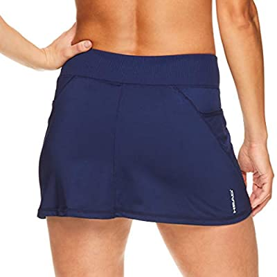 HEAD Women's Athletic Tennis Skirt with Ball Pocket - Workout Golf Exercise & Running Skort at Women's Clothing store