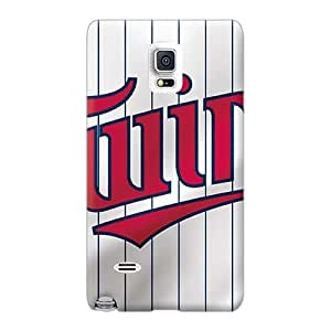 Protective Hard Phone Case For Samsung Galaxy Note 4 With Unique Design Trendy Minnesota Twins Pictures RandileeStewart