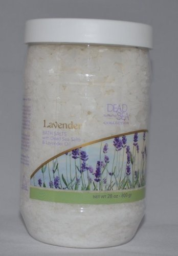 Bath Mineral Salt Collection - Dead Sea Collection Mineral Bath Salt with Lavender to revive and calm your senses. 34.2 oz. jar