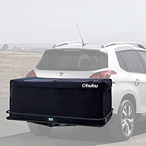 Ohuhu Upgraded Cargo Carrier Bag Hitch Tray Roof Top Cargo Bag, Fire Resistant, 15 Cubic Feet