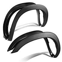 Dodge Ram 3rd Gen Factory Style 4pcs Paintable ABS Smooth Wheel Fender Flares (Black)