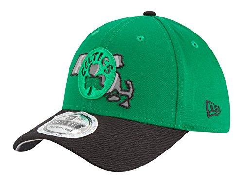 New Era Boston Celtics NBA Men/'s Team A Frame Adjustable Logo Cap New Black