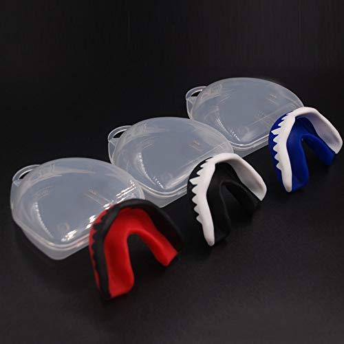 63 * 47 * 3mm, blue /& white ankunlunbai Professional Soft EVA Sport Football Basketball Thai Boxing Mouth Guard