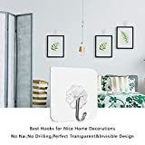 CH & ME Adhesive Wall Hooks Hangers |Waterproof and Oilproof |Heavy Duty Sticky Hangers |Kitchen, Livingroom, Bedroom Student Dormitory Wall & Ceiling Hanger