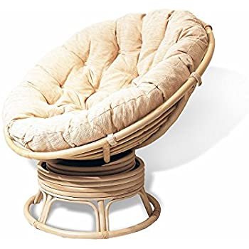 Amazon Com Papasan Swivel Chair Natural Rattan Extremely