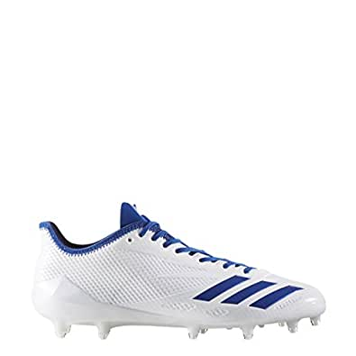 Adidas Adizero 5Star 6.0 Cleat Men's Football 12.5 White-Collegiate Royal