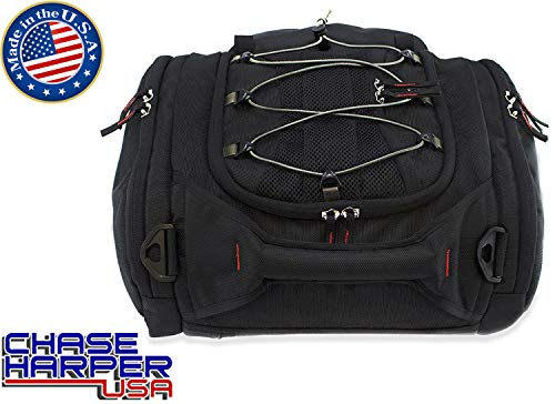 - Chase Harper USA 4502 RipStream Tail Trunk - Water-Resistant, Tear-Resistant, Industrial Grade Ballistic Nylon with Adjustable Bungee Mounting System for Universal Fit, 13.5