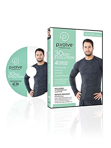 P.volve 30 Day Evolution DVD + Digital Copy - Home Workout Fitness DVD - Includes a Full Body Workout Program Digital Copy and 30-Day Workout Calendar for a Firm, Sculpted, and Toned Body