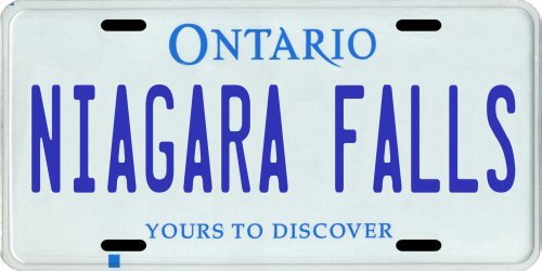 o Canada Aluminum License Plate (Ontario Car License Plate)