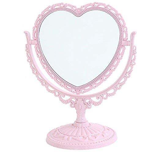 XPXKJ 7-Inch Tabletop Vanity Makeup Mirror with 3X Magnification, Two Sided ABS -