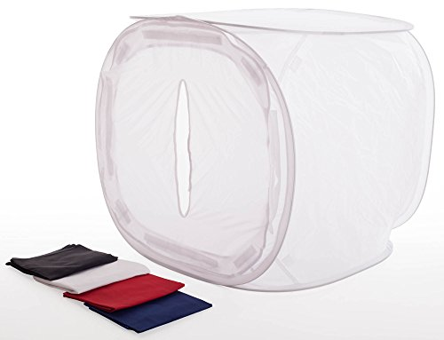 Fotove 36x36 Inch Studio Photography Light Tent Cube Diffusion Soft Box with 4 Backdrops
