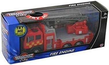 Teamsterz Diecast bomberos con escaleras las luces intermitentes y Sonido Niños Juguete Nuevo