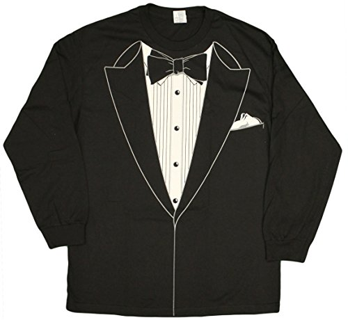 Men's Long Sleeve Tuxedo Halloween/ Everyday Costume Shirt (small)