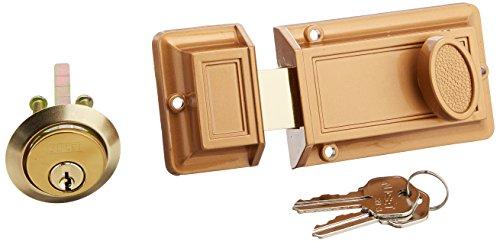 NU-SET 2110-3 Night Deadbolt Lock, Bronze