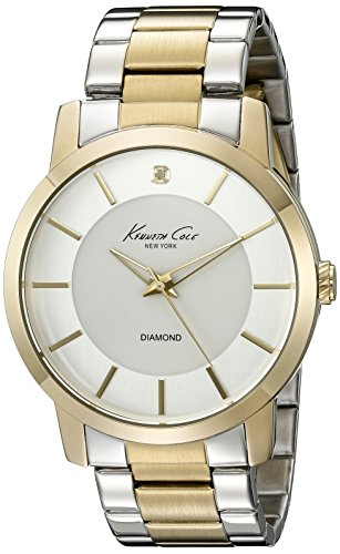 Kenneth Cole New York Men's 10020807 Genuine Diamond- Rock Out Analog Display Japanese Quartz Silver Watch