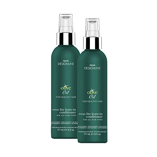Olive Oyl Hair (Olive Oil EVOO Lite Leave-in - Regis DESIGNLINE - Leave-In Conditioner Treatment Restores Dry and Damaged Hair without Build-Up and Protects Against Damage, Dryness, and Color Fading (6 oz 2)