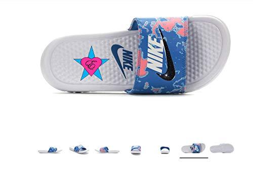 ed214027def37 Amazon.com: Sale Bedazzled Glitter White/Coral/Blue Tropical Nike ...