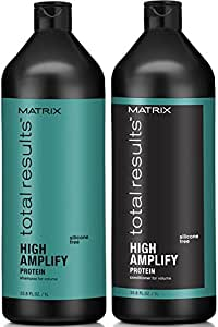 Matrix Total Results High Amplify Volume Shampoo and Conditioner, 1 Liter each