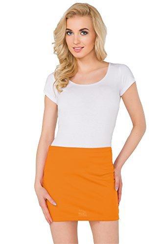 Femmes 8 Mini tlastique PA11 Orange Crayon Tailles FASHION lastique 22 Moulant FUTURO Grandes Jupe vtq45wxfnY
