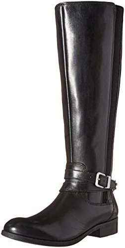 Clarks Kvinners Pita Wien Riding Boot Sort Skinn