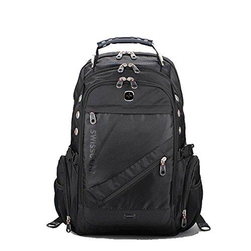 Mochilas bolsos de hombro hombres moda viajes negro