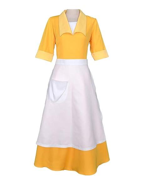 Amazon.com: Cosplay.fm - Vestido para mujer, color amarillo ...