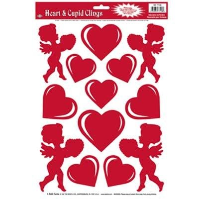 Valentine Heart and Cupid Window Clings 77128PK3 B0148WDQ3S  3