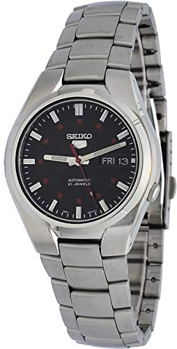 Seiko 5 SNK617 Men's Stainless Steel Black Dial Day Date Automatic Watch