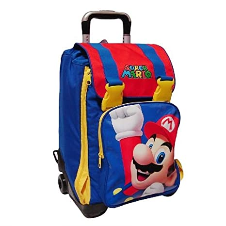 Mochila Extensible con carro super mario Kids 14