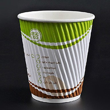 Kitchen boutique convenience and durability Short Disposable Scald Preventing Coffee Cup,12oz,100Pcs/bag