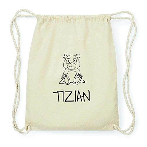 JOllipets TIZIAN Hipster Turnbeutel Tasche Rucksack aus Baumwolle Design: Bär