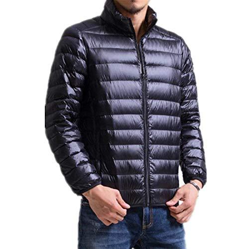 Puff Winter Down Streetwear with Long Schwarz Coat Easy Packable Jacket Zipper Sleeve Outerwear Jacket Huixin Jackets Men's Hx5wqCwB