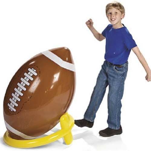 Fun Express Jumbo Giant Inflatable 4ft Football With Tee ()