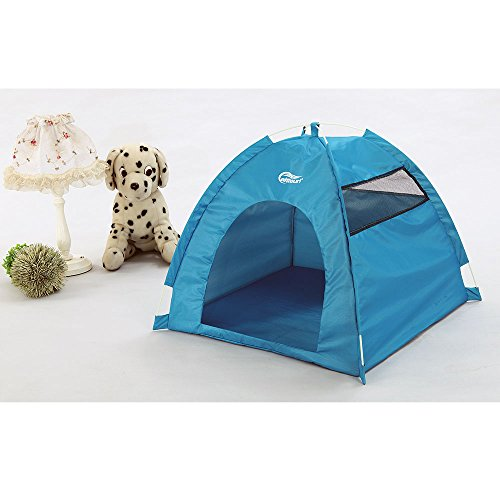 One-Touch Portable Folding large Dog House tent for indoor,outdoor waterproof (blue) by altteuri