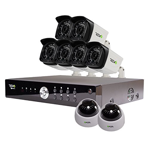 UPC 812237019379, REVO America Aero HD 1080p 16 Ch. Video Security System with 8 Indoor/Outdoor Cameras, White/Black (RA161D2GB6G-2T)